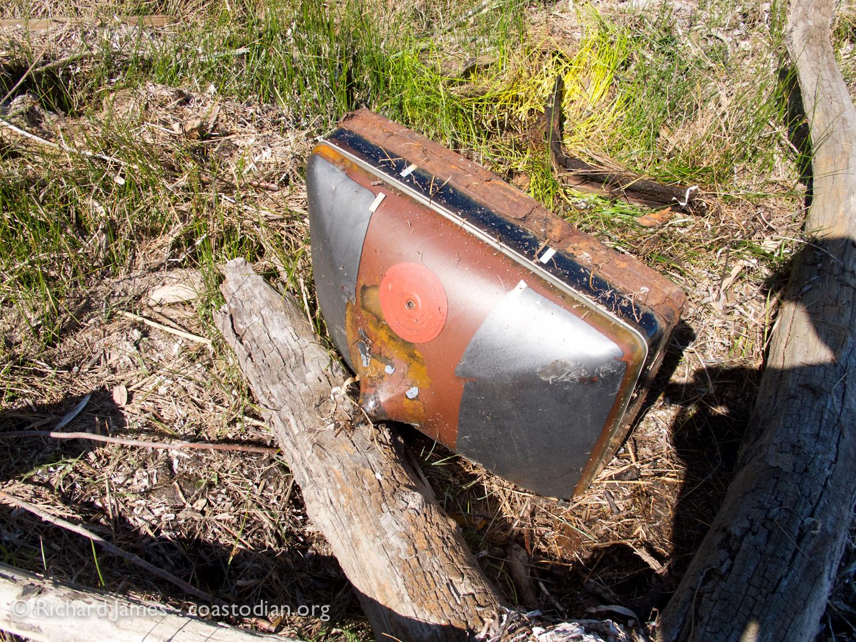 """Abandoned 25"""" TV tube, full of lead"""