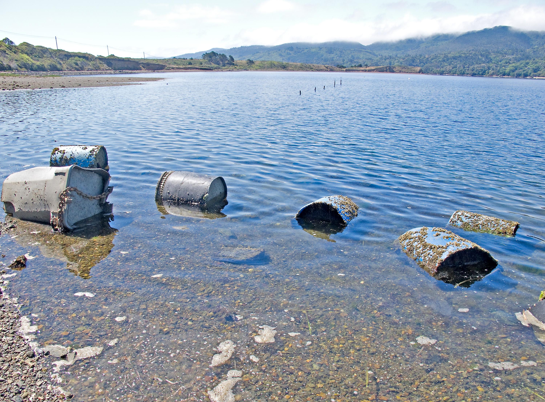Abandoned anchors blighting Tomales Bay