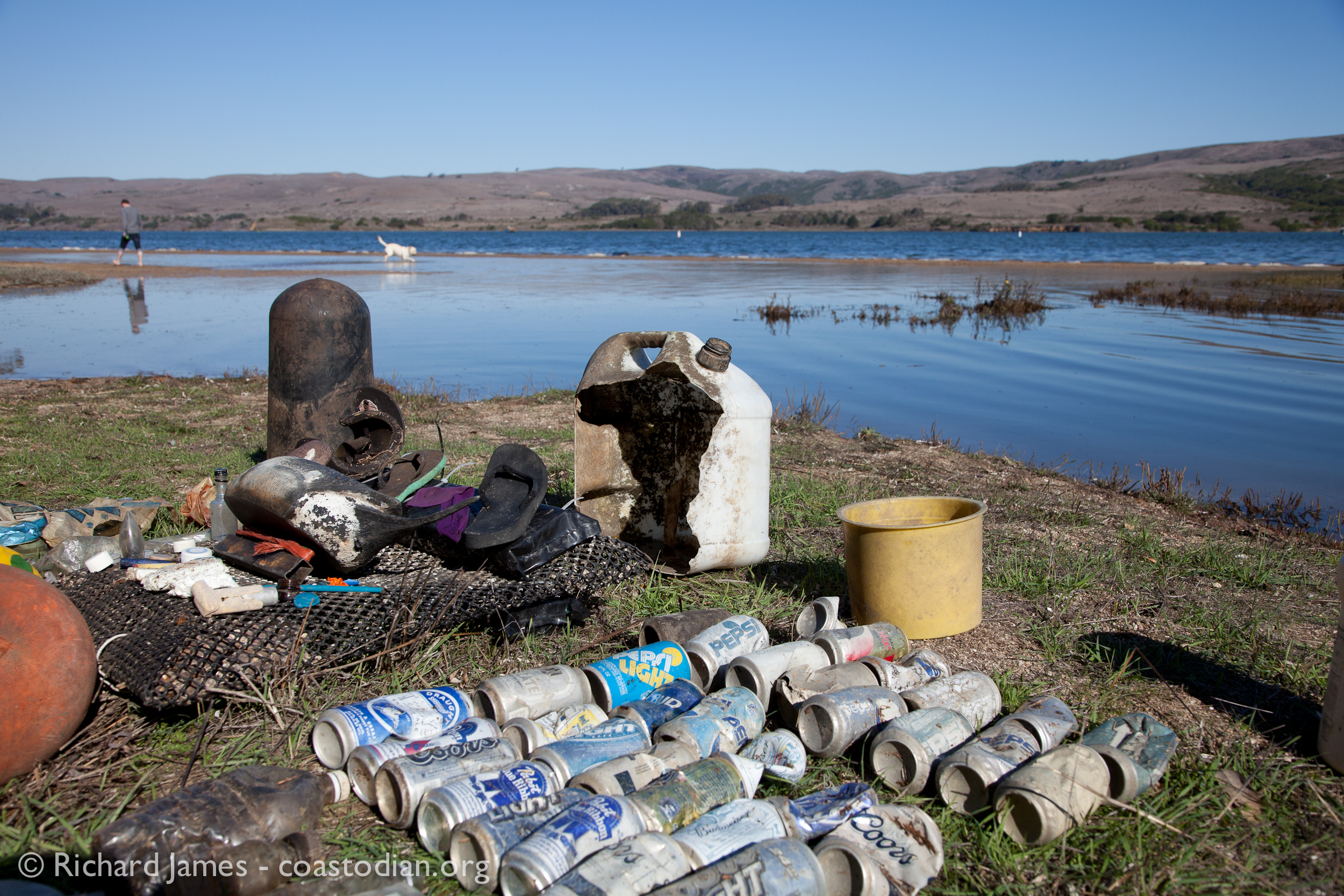 Debris removed from Southern Tomales Bay on 25 Nov. ©Richard James - coastodian.org