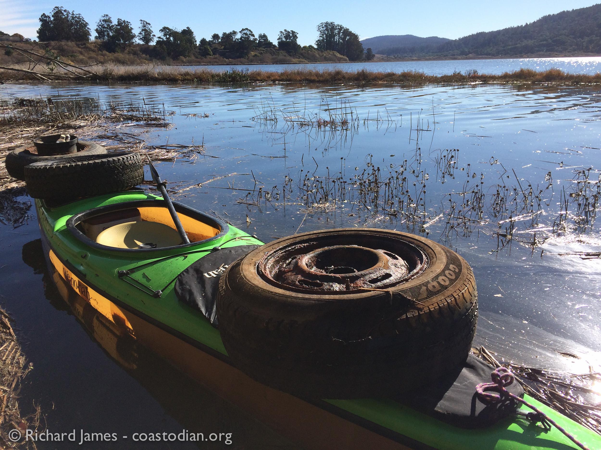 Three tires is a full load it seems.  ©Richard James - coastodian.org